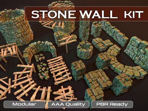 Modular Stone Wall Kit