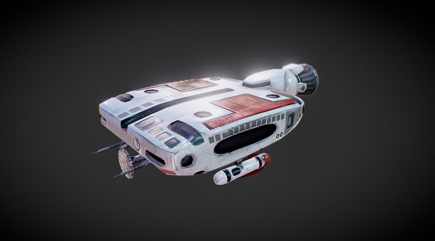 Spaceship 1949 Lowpoly VR