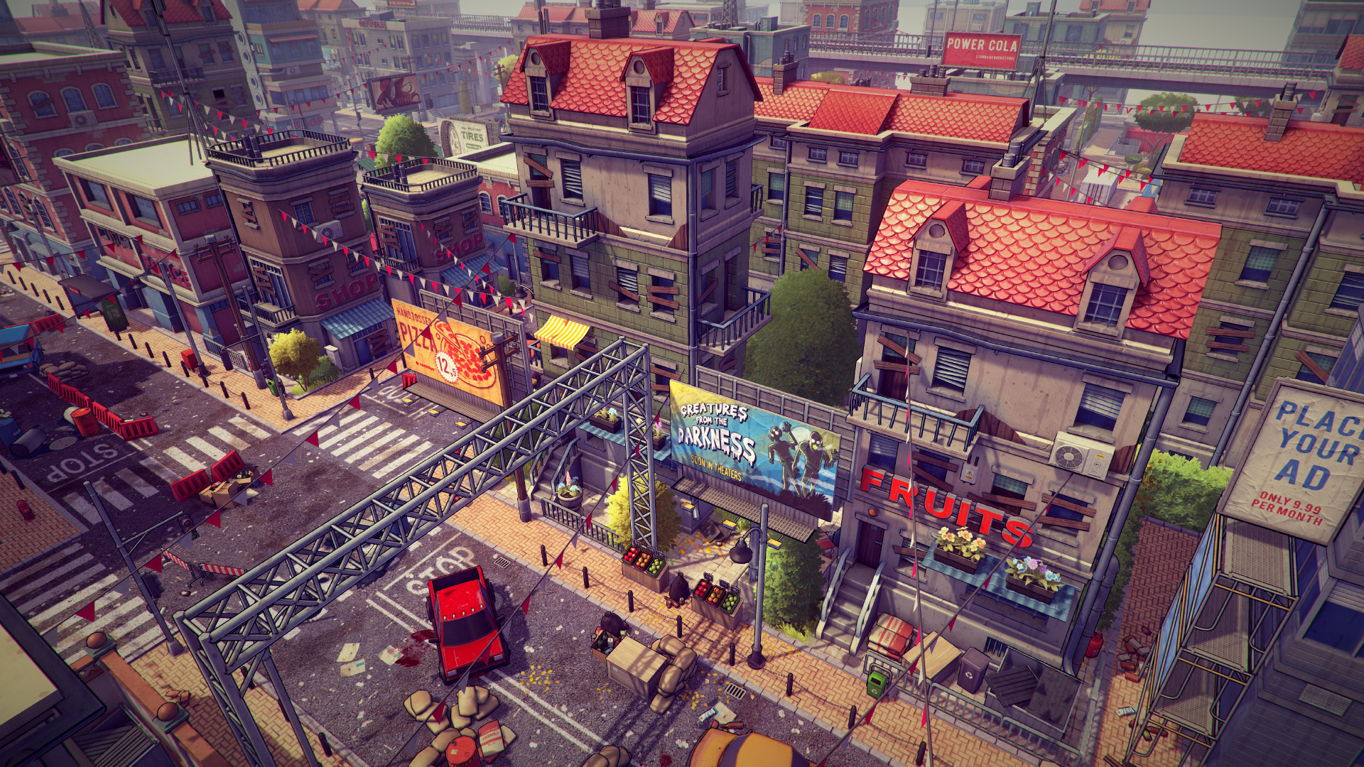 3d Postapocalyptic cartoon city pack