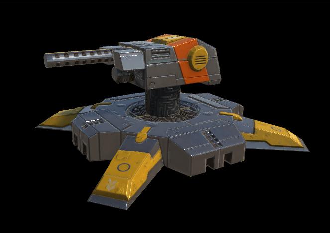 Sc-fi turret model