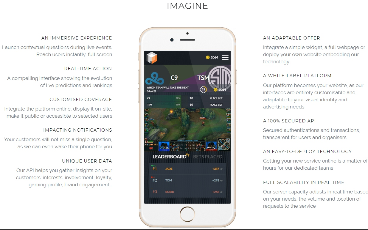 Live E-Sports betting platform