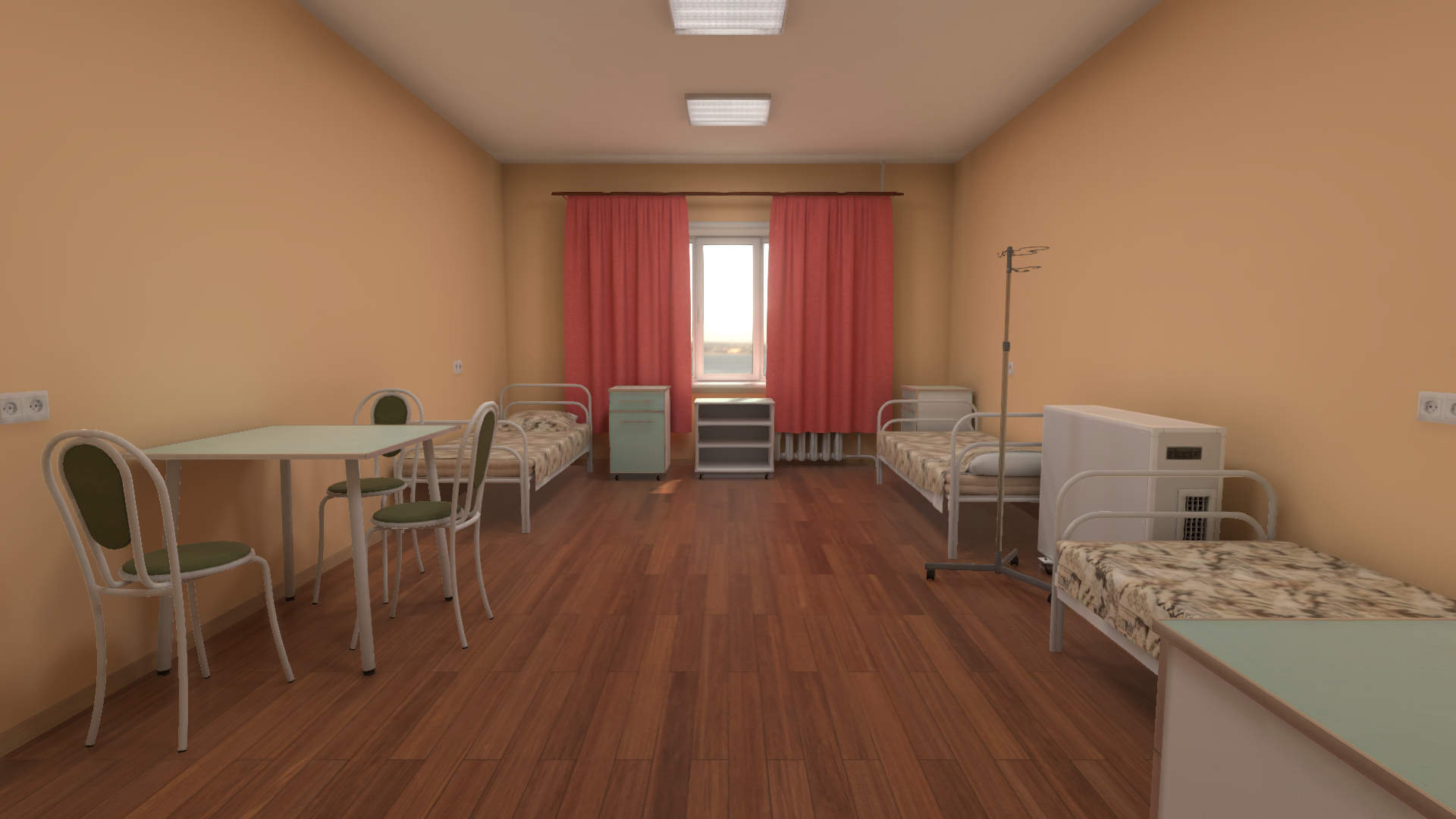 Infectious Hospital Room - 3D Environment