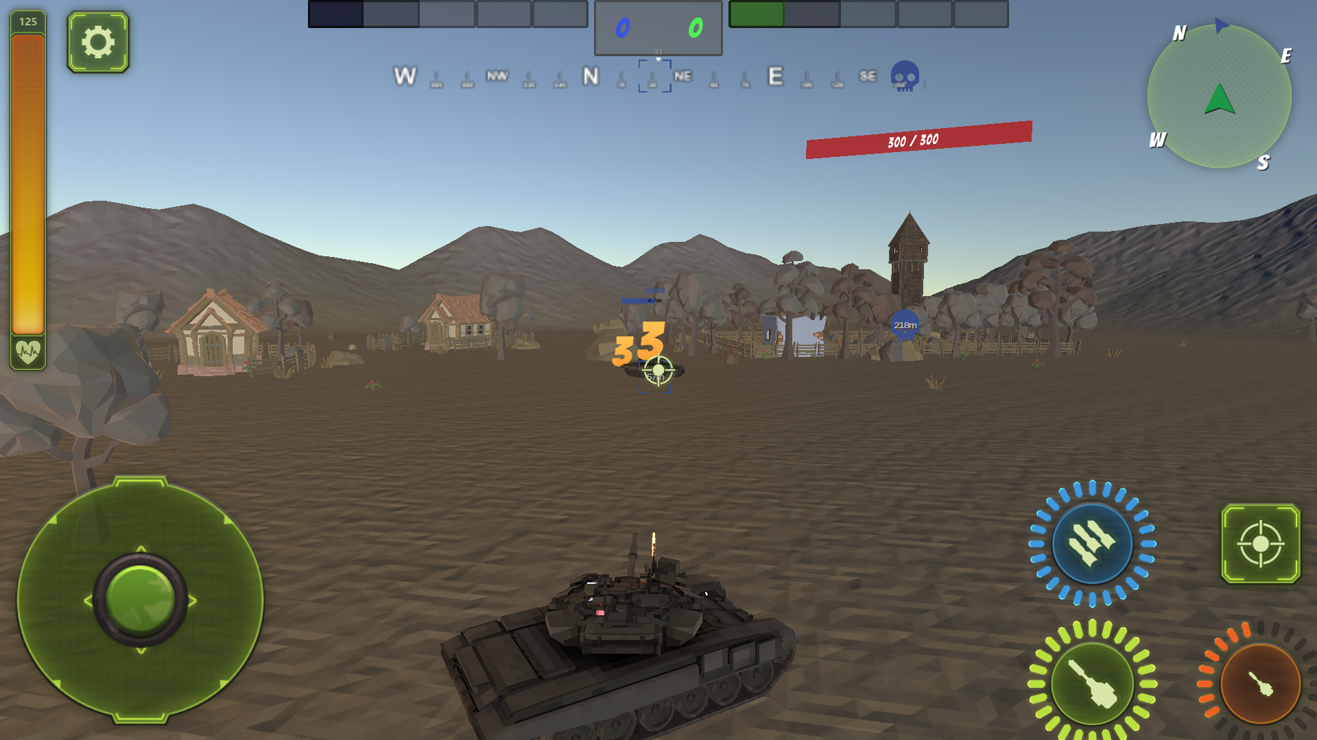 Tank Battle Multiplayer Mini Game