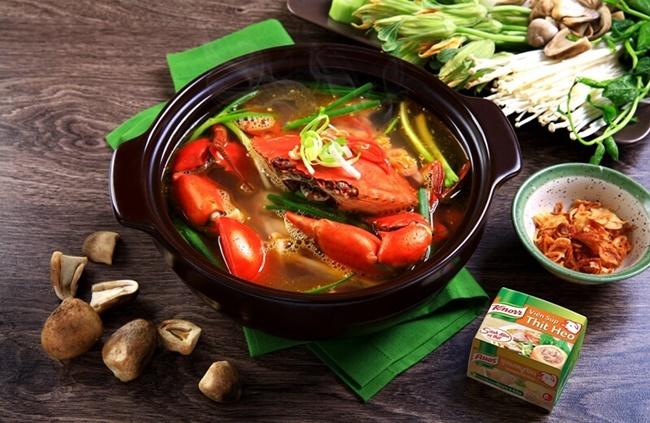 Bí quyết nấu lẩu cua biển ngon như nhà hàng
