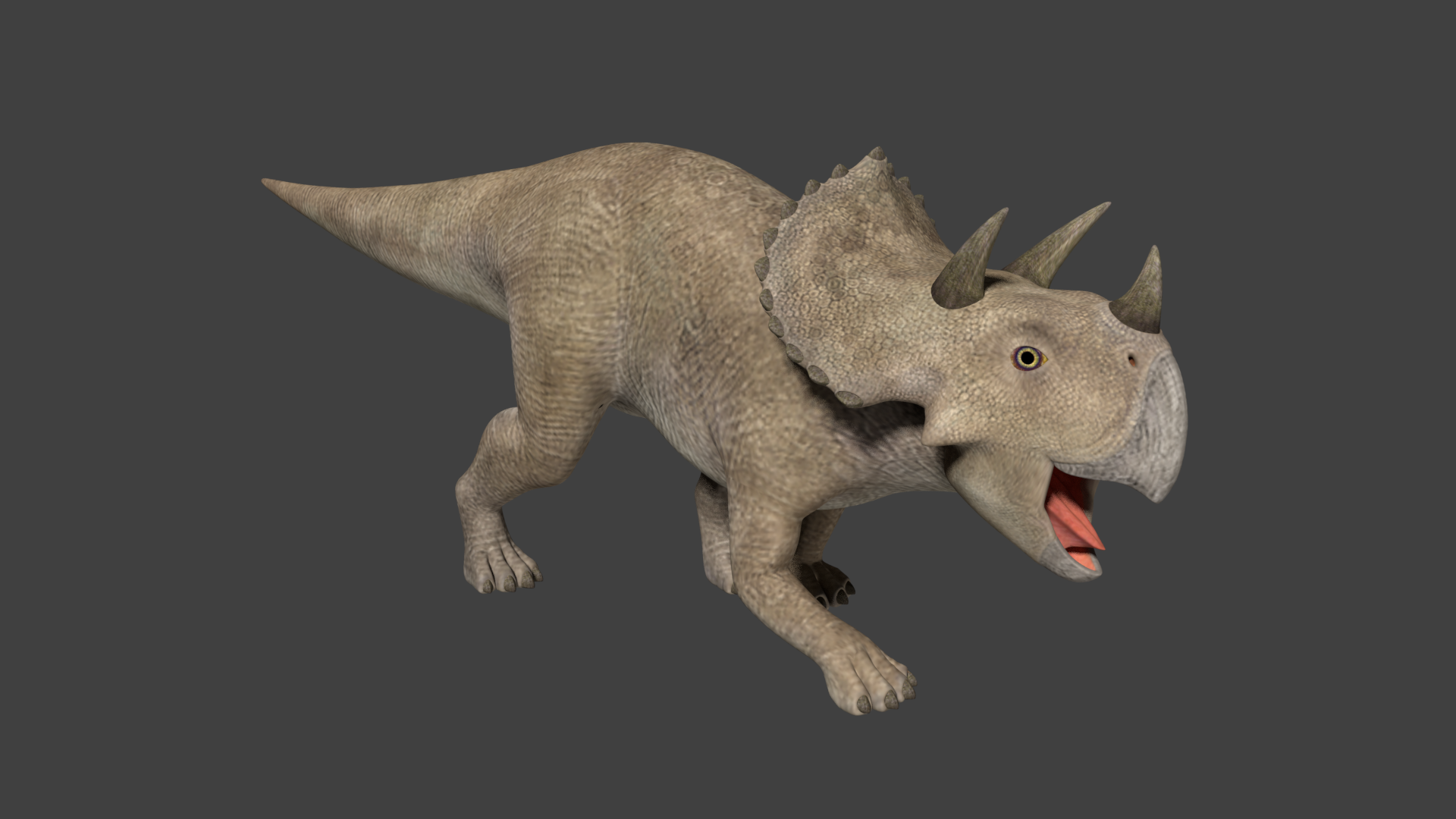 Realistic Triceratops - Unity Asset