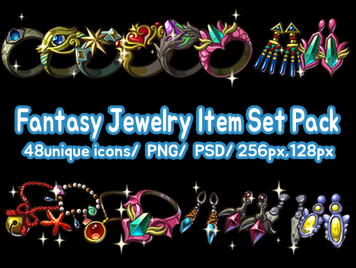 Fantasy Jewelry Item Set Pack