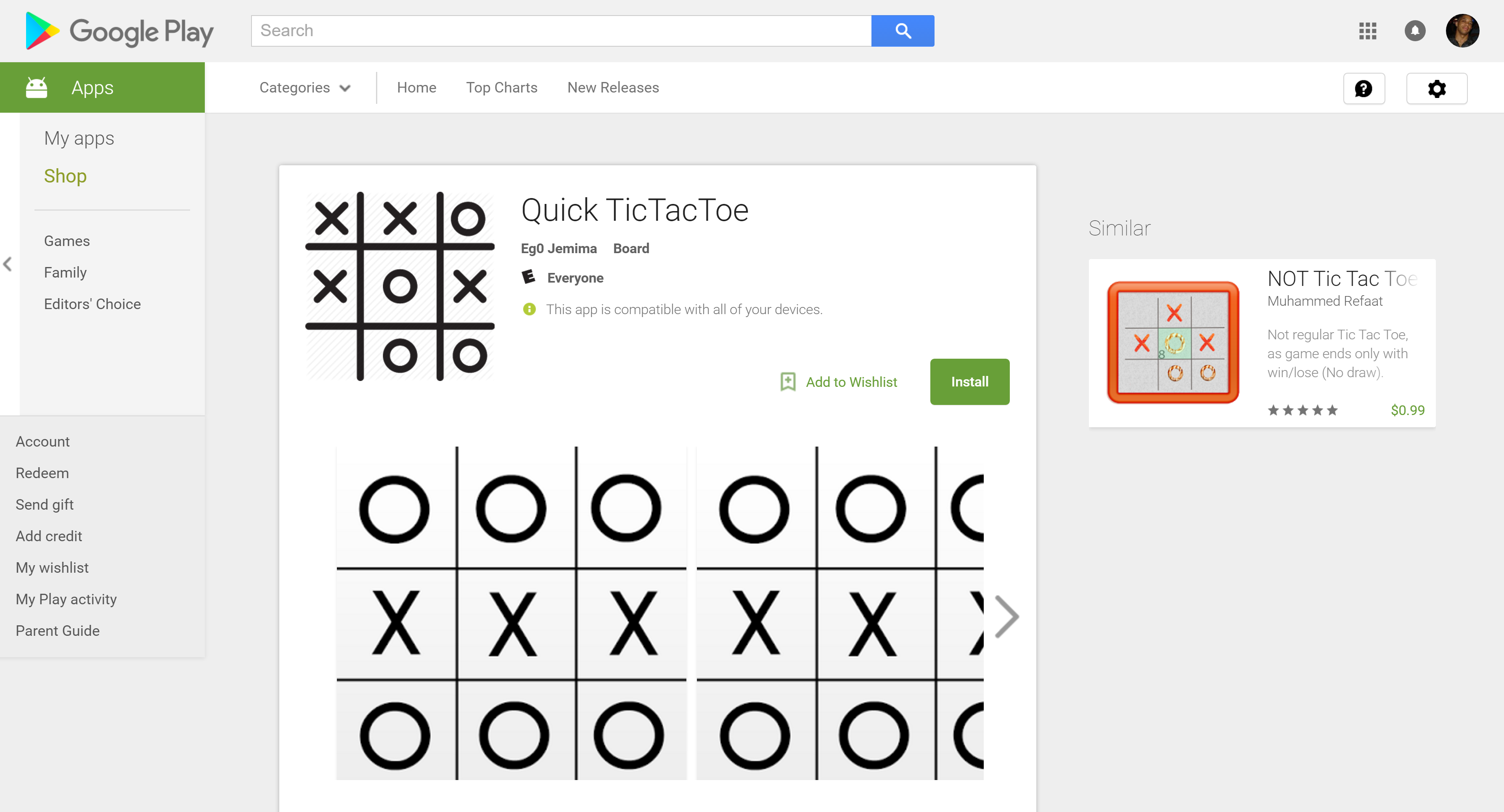 Quick Tic Tac Toe