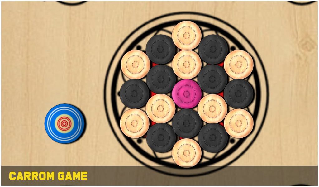 Carrom Game Assets 3D Pack