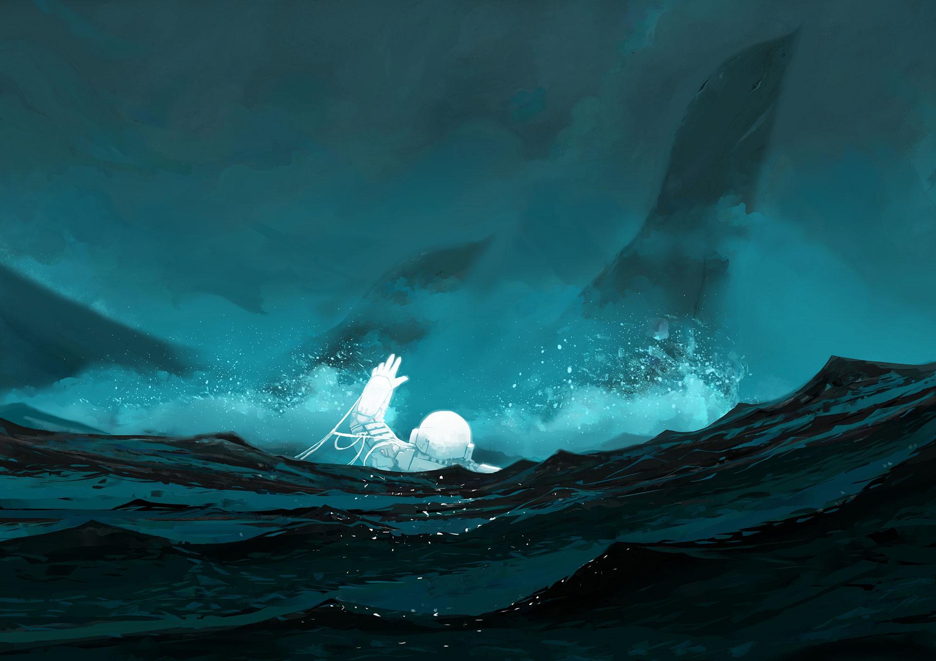 Crash in a Hostile Sea