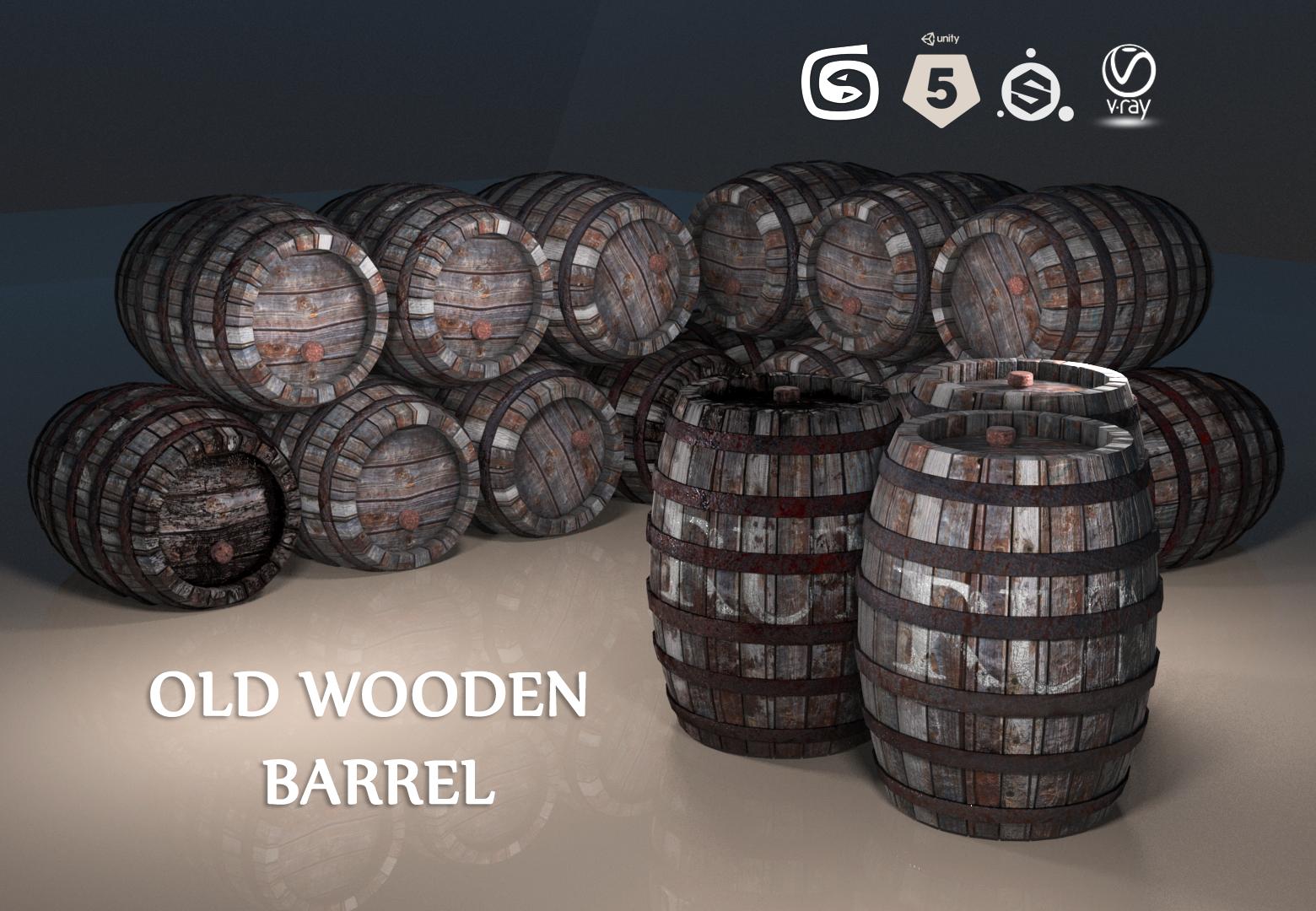 Old Wooden Barrel PBR