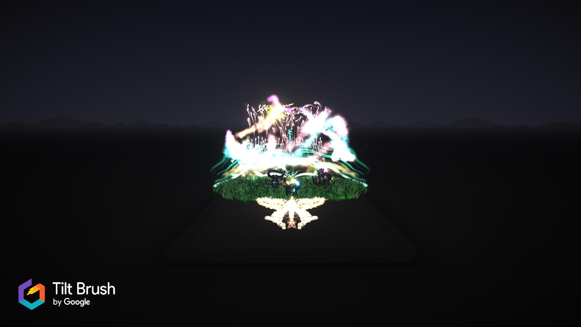 Artlink VR - Explorative Google Tilt Brush paintings by non-game artists