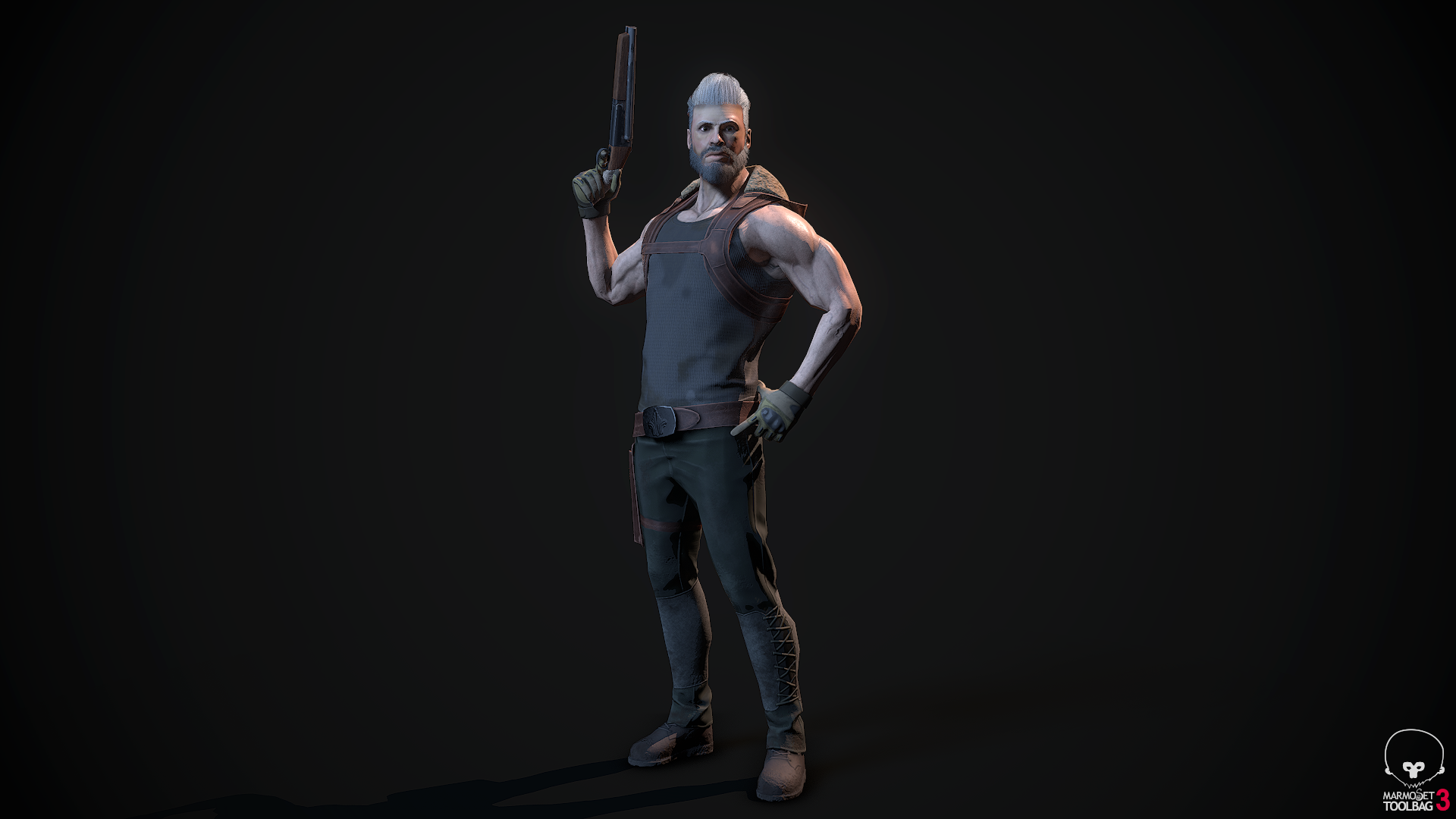 Modern Action Hero - Humanoid Ready Character