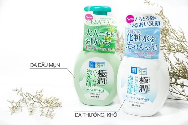 Review sữa rửa mặt trị mụn Hada Labo