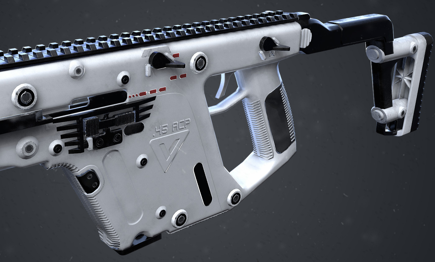 Kriss Vector 7,769 Tris  4K Textures (Albedo, Roughness, Metal, Normal,AO)  18 Hrs  Rendered in Marmoset Toolbag