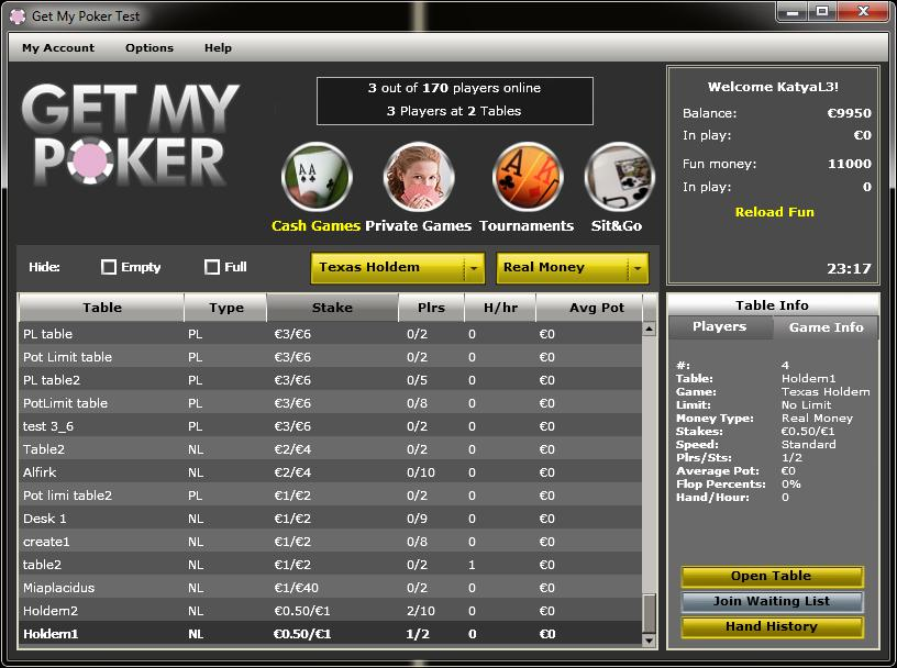 Online Multiplayer Poker (Team International)