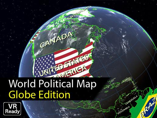 World Political Map Globe Edition