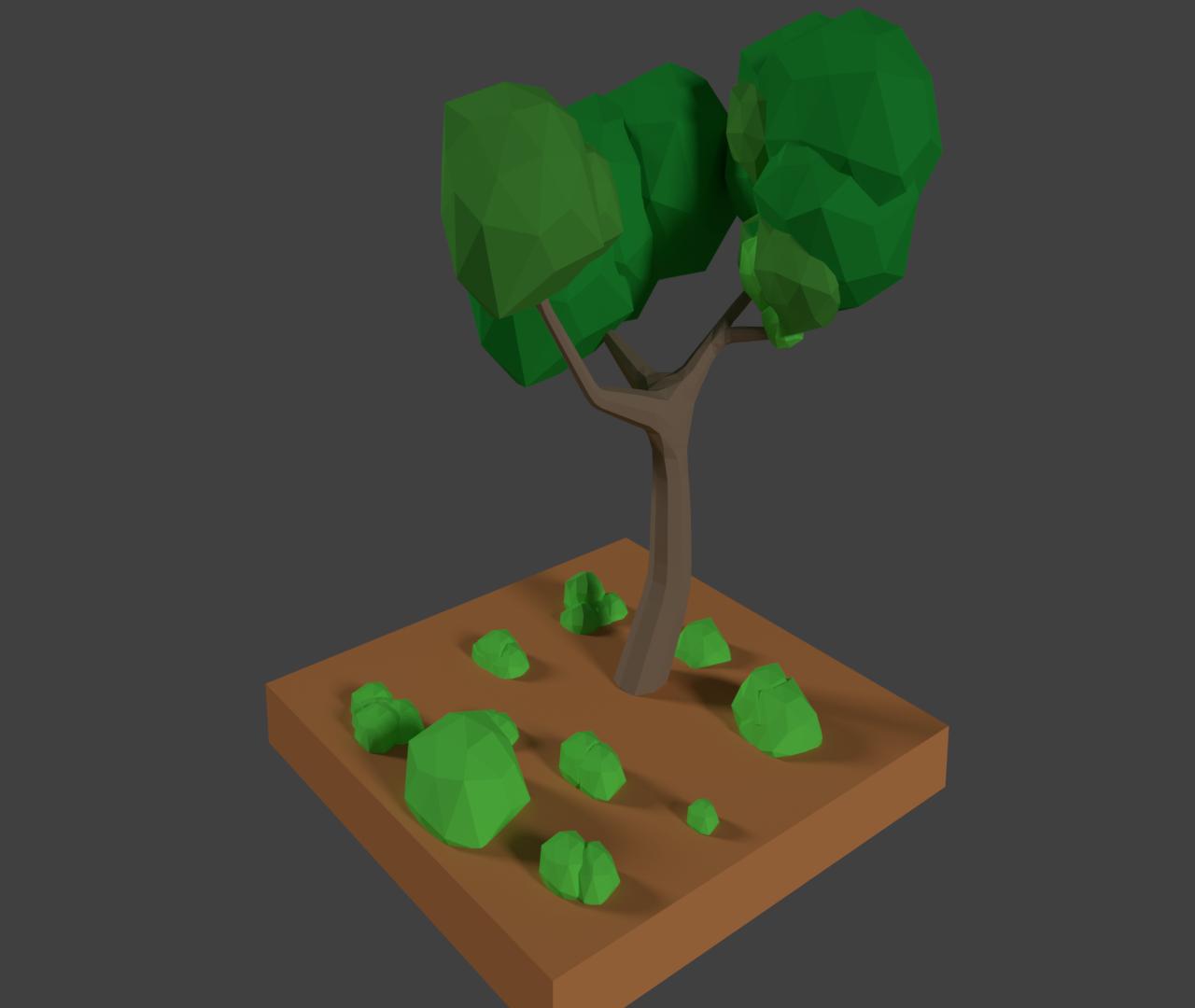 Low poly tree.