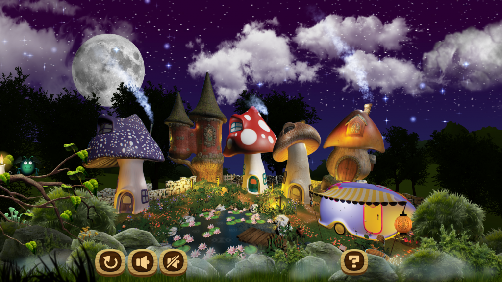 "NIGHTY NIGHT APP/GAME FOR KIDS ""GOOD NIGHT AT THE LILY POND"""