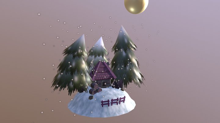 Game Environment. Winter Scene.