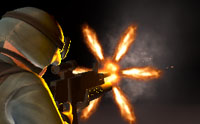 muzzle flash with light sources in unity 5.6