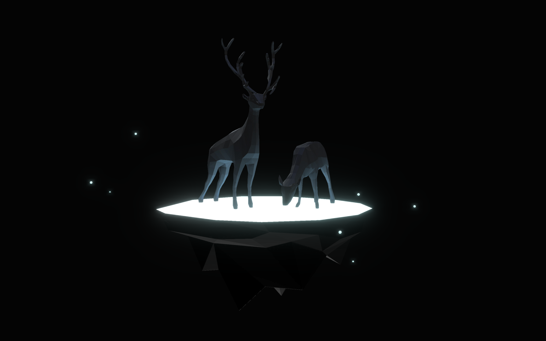 Low Poly Deer Island