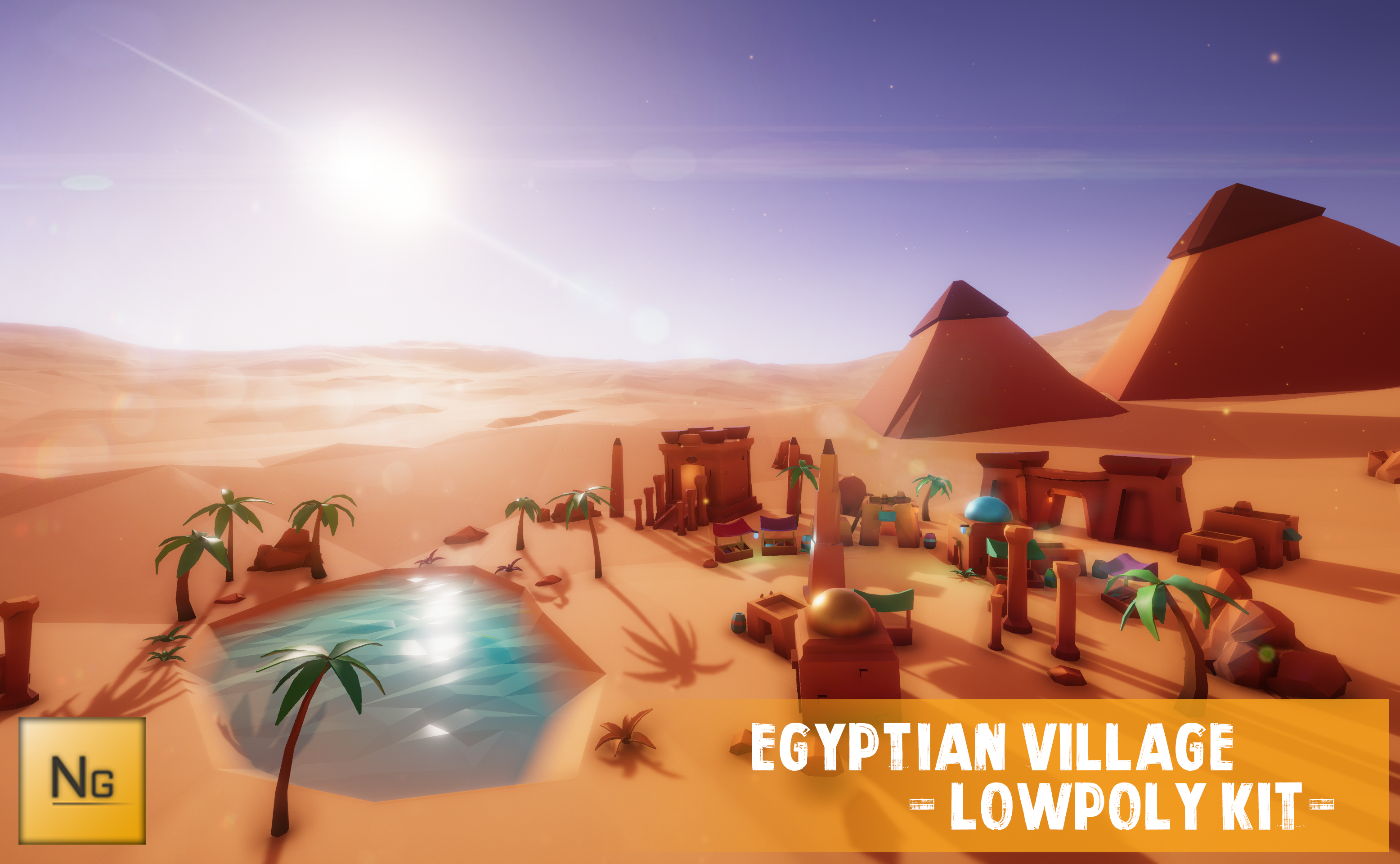 Egyptian village - LowPoly