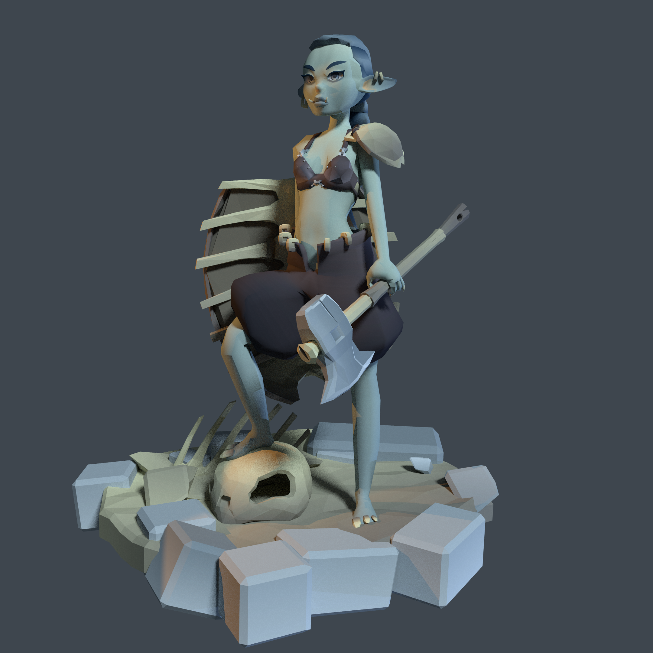 Little Goblin - Modular character project
