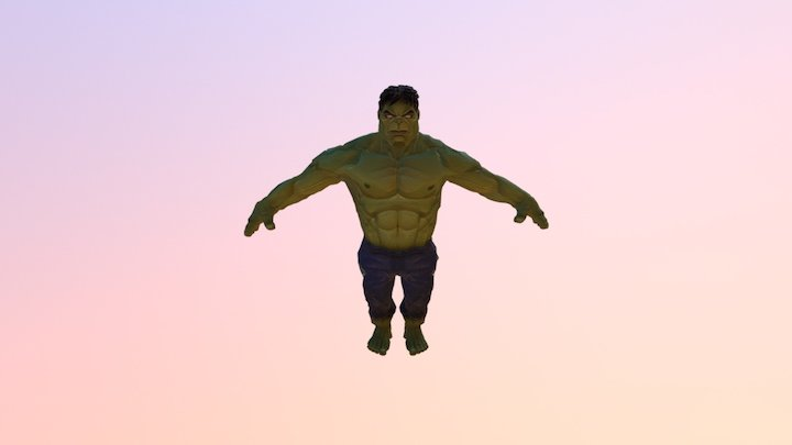 Hulk 3D lowpoly
