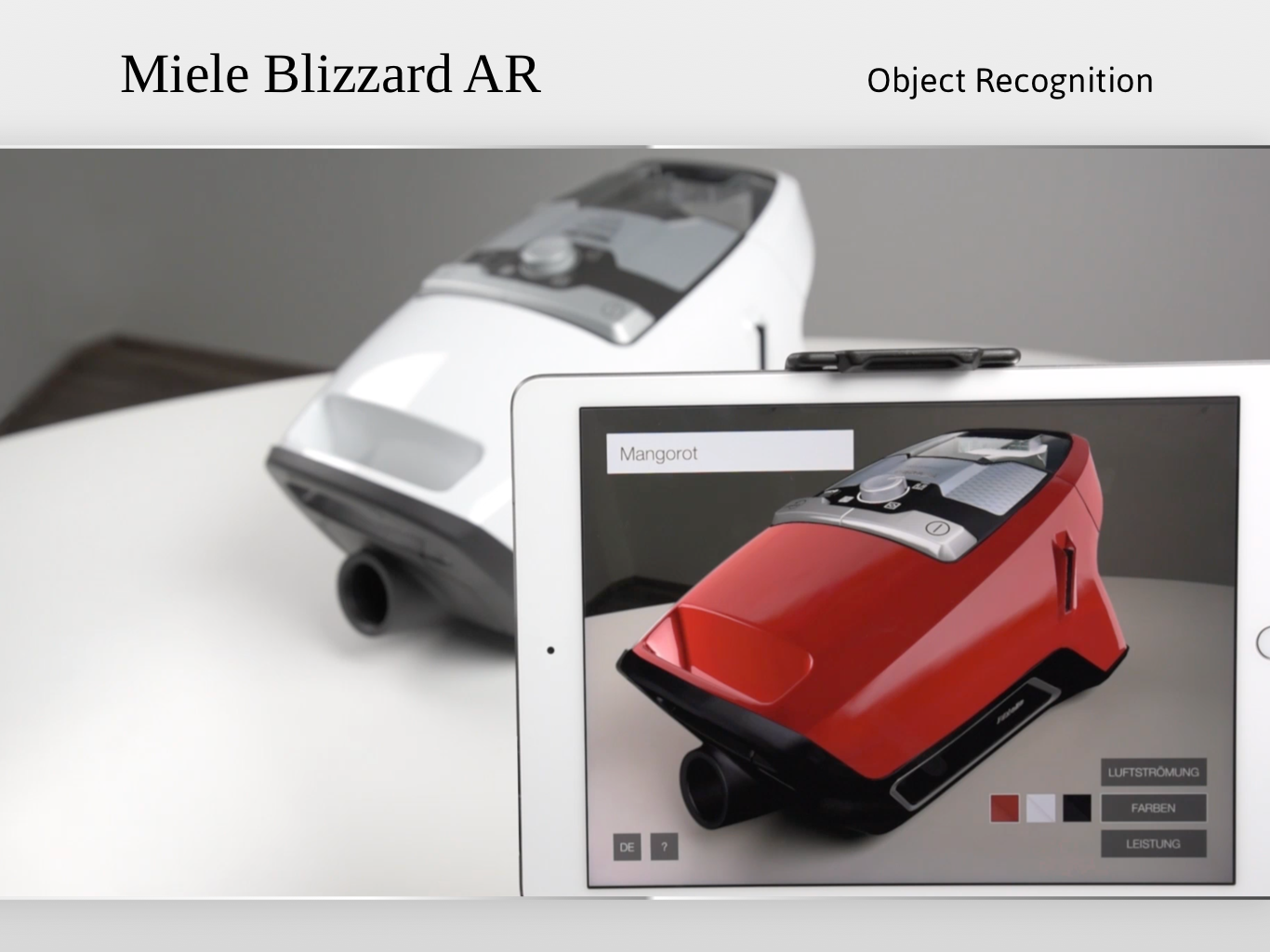 Miele Blizzard CX1 – Augmented Reality App
