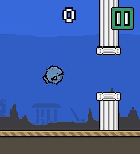 Flappy whale