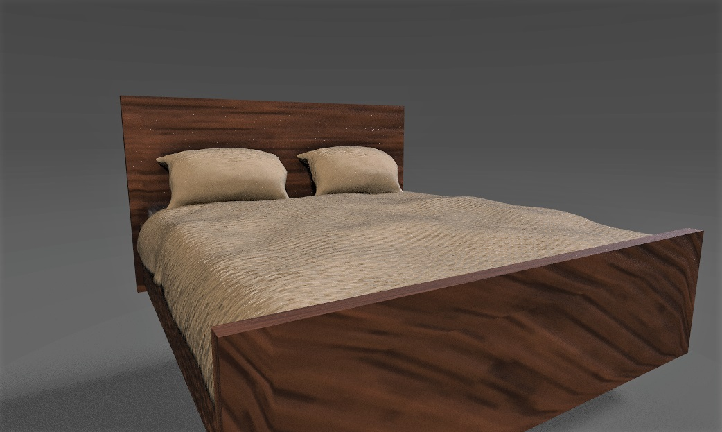 Bed, High to Low Poly