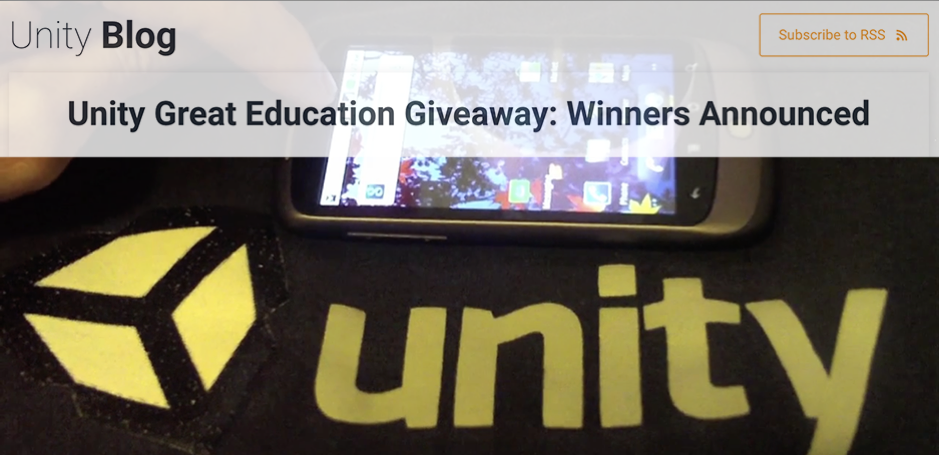 Unity Grand Prize Winner