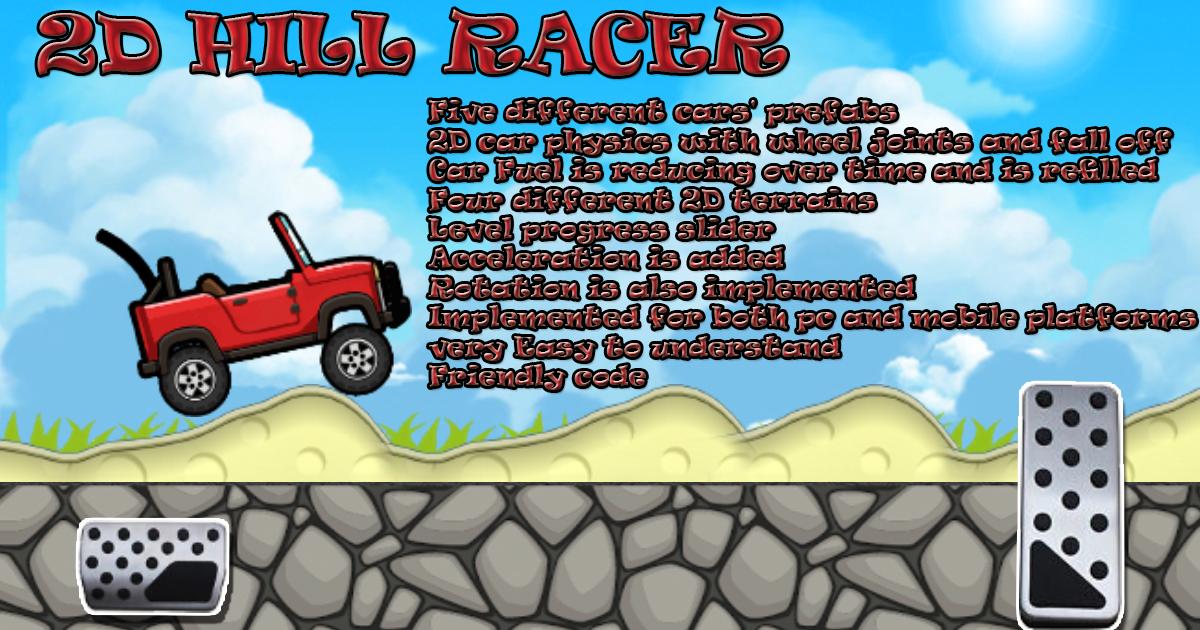 2D Hill Car Racer