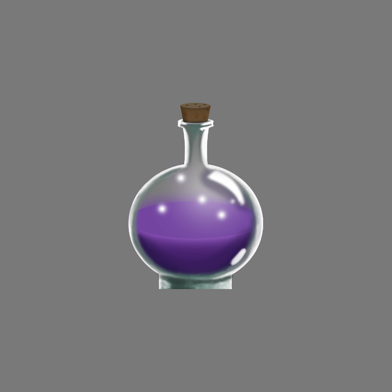 Game Asset - Purple Potion