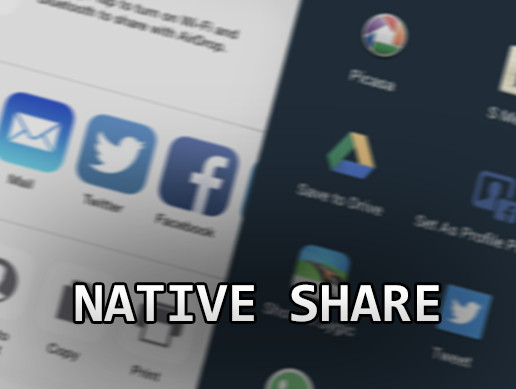 Native Share for Android & iOS [Asset Store]
