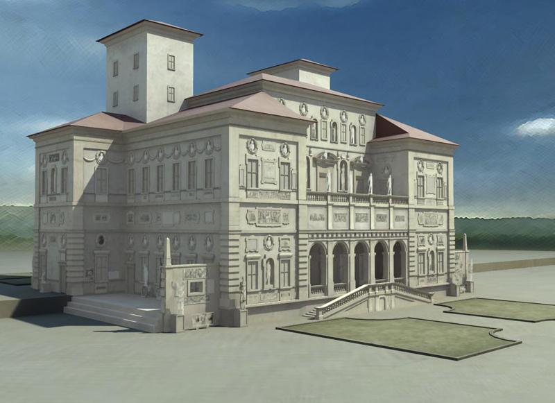 Paris Louvre museum 3D application
