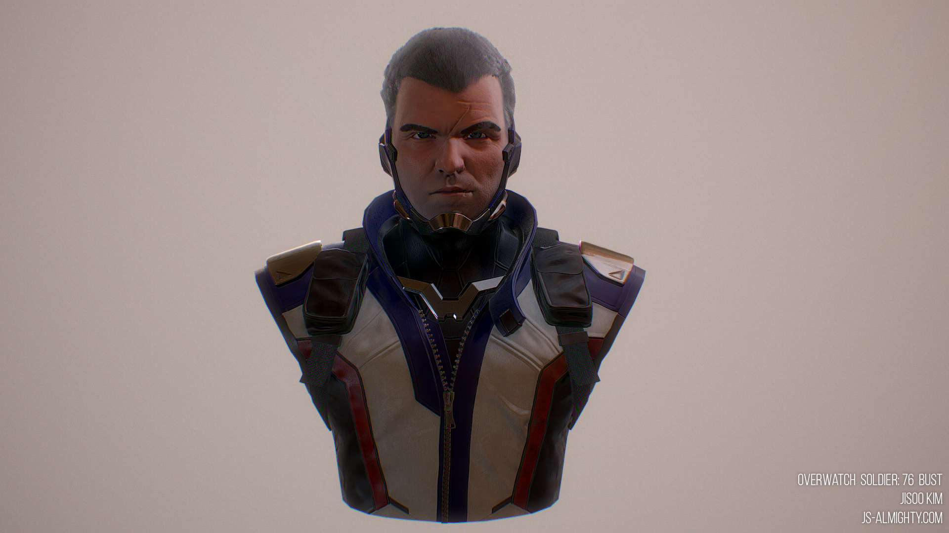 Overwatch Soldier: 76 Bust