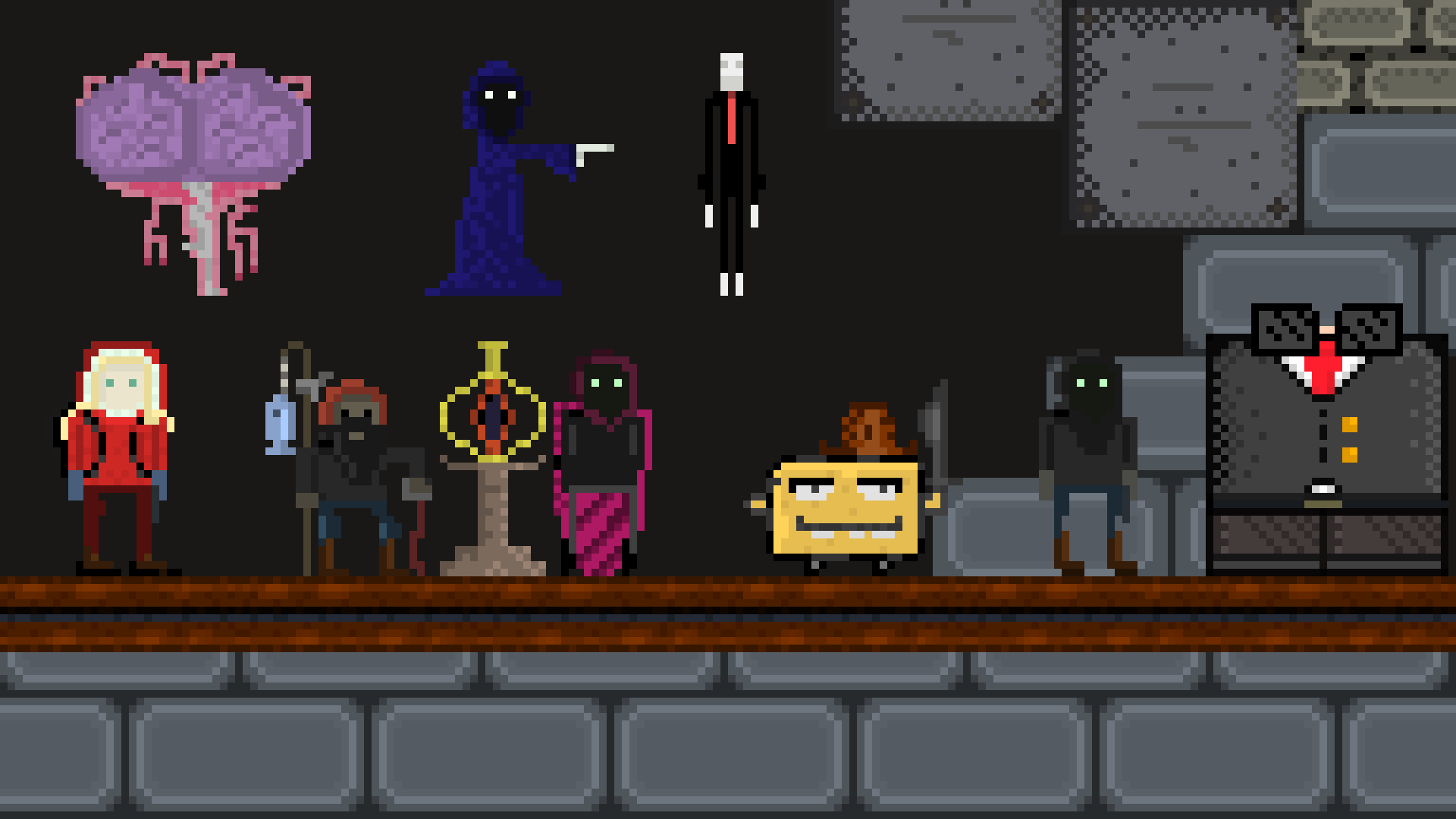 My pixel art - exploring 'character' creation because I suck at it!