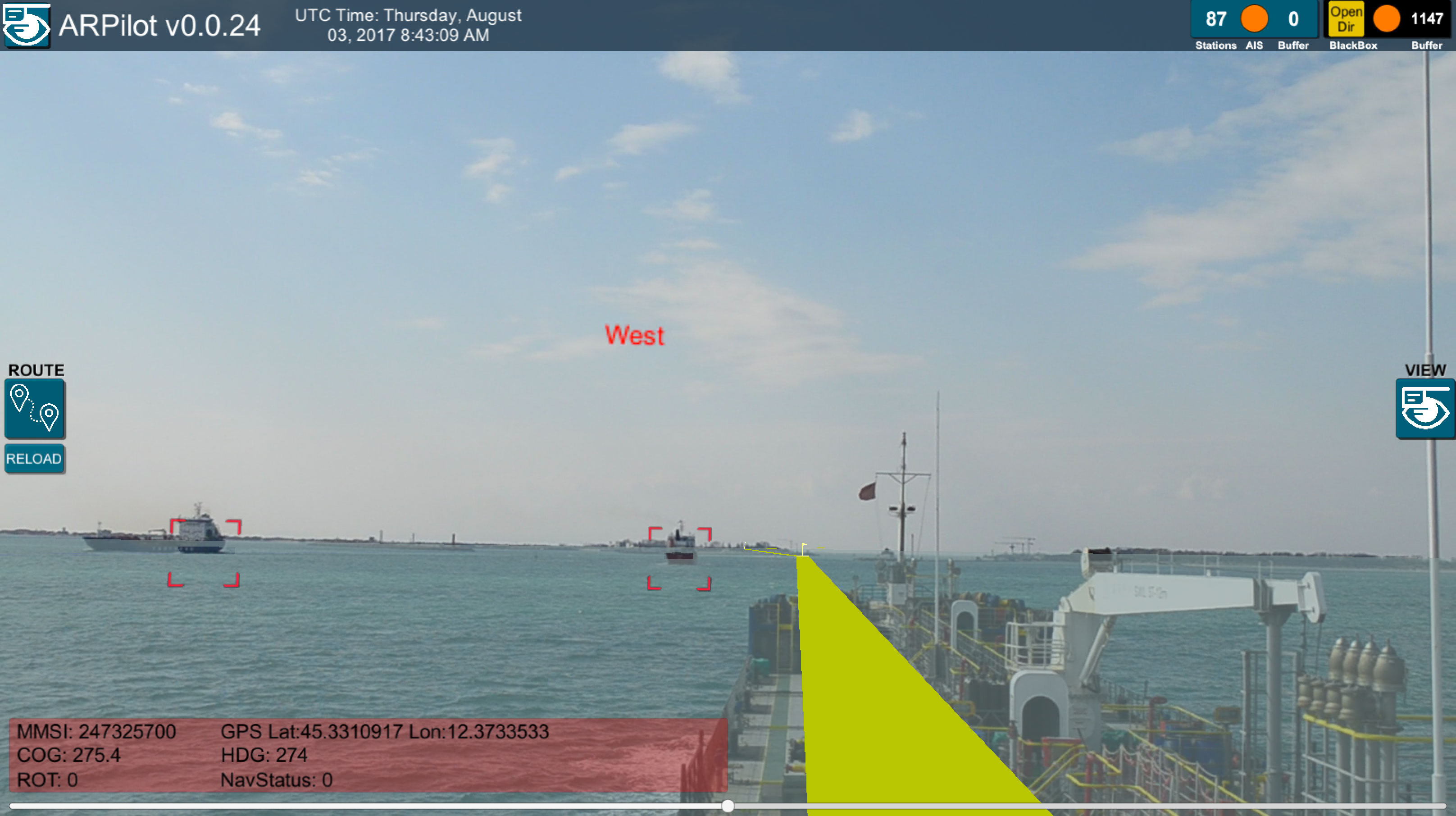 Marine Navigation in Mixed Reality App Prototype