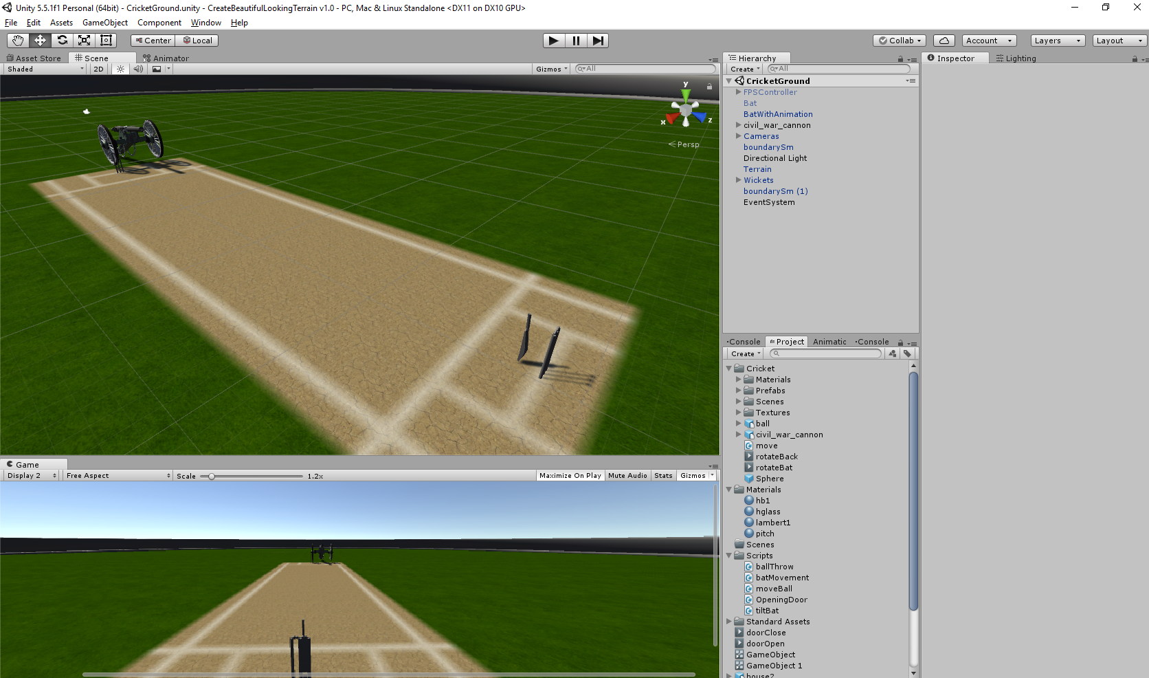 Demo Of Cricket Game