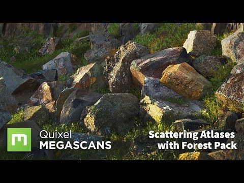 Scattering Megascans Atlases with Forest Pack