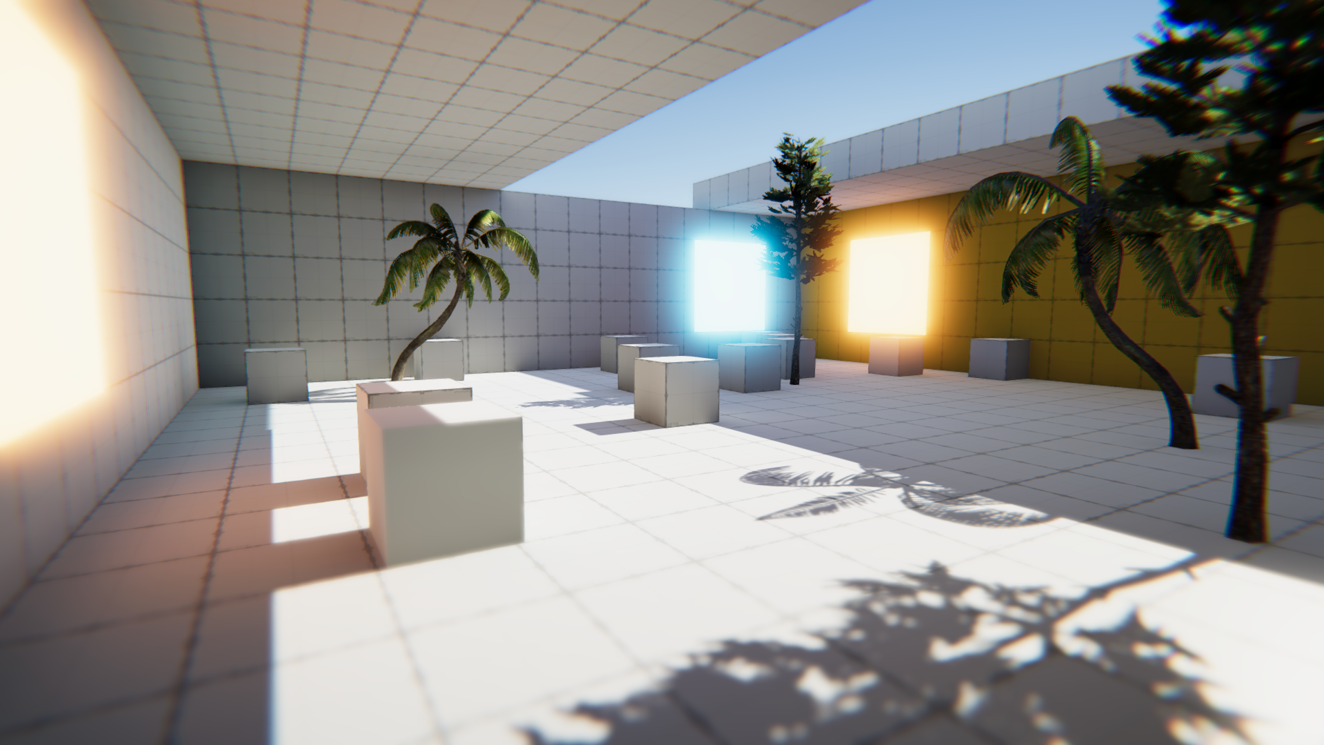 Unity Lighting and post processing test
