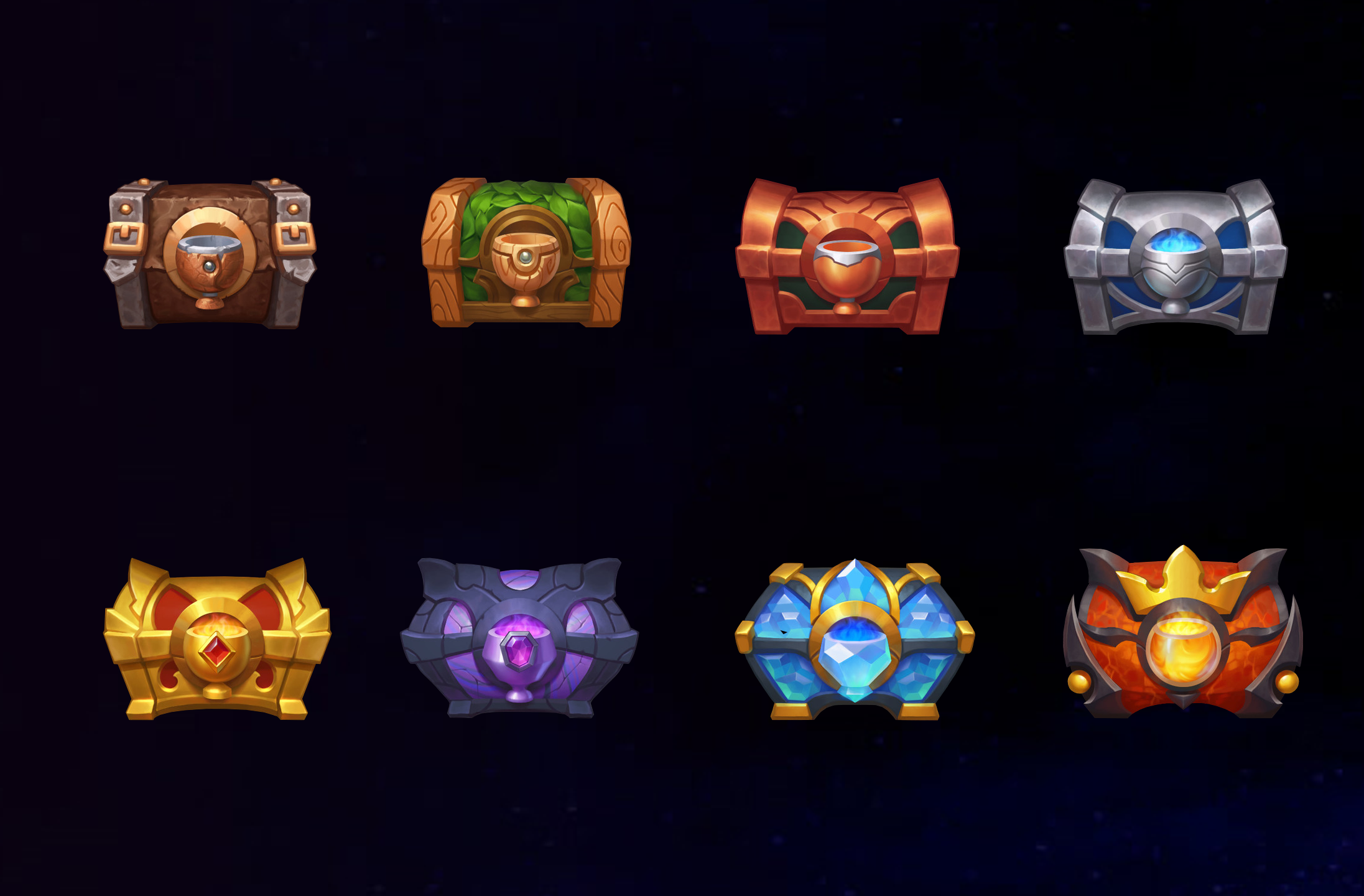 Styled Chest Icons
