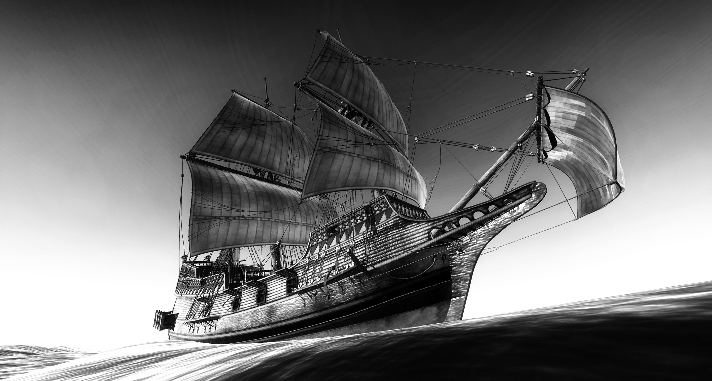 Realistic Pirate Ship