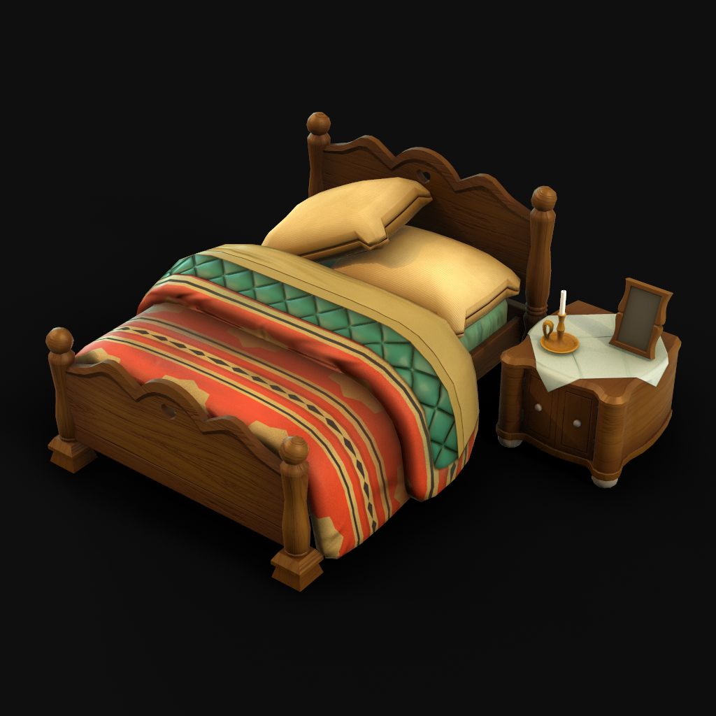 Bedroom - Final Fantasy IX scene fan art asset
