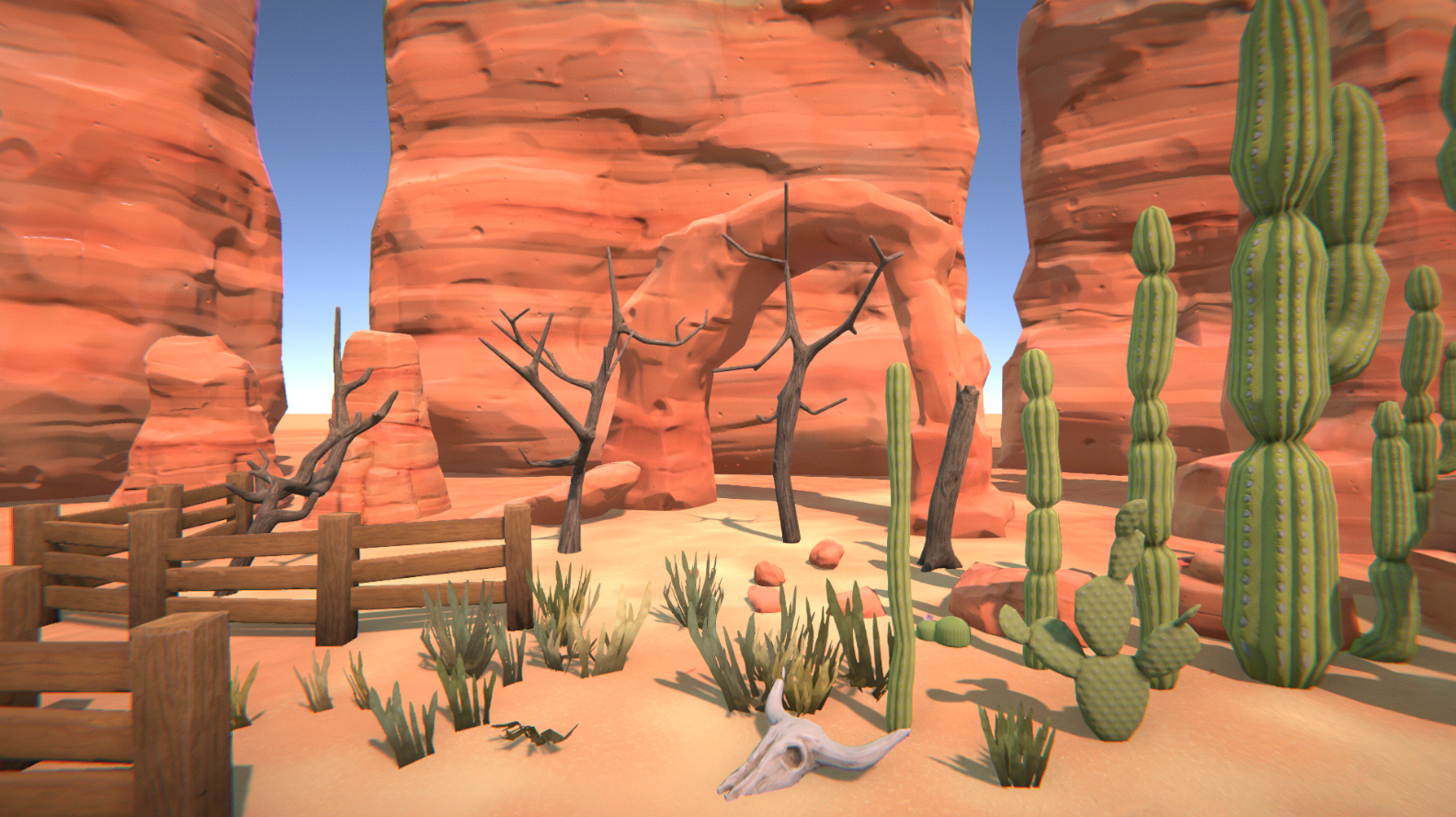 PBR Stylized/cartoon desert