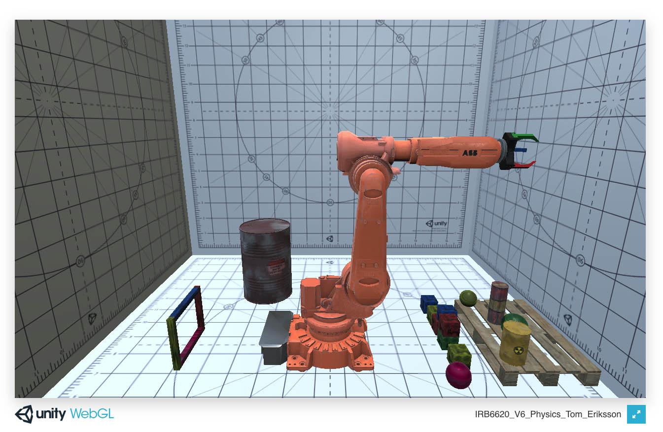 ABB Robot Unity Physics