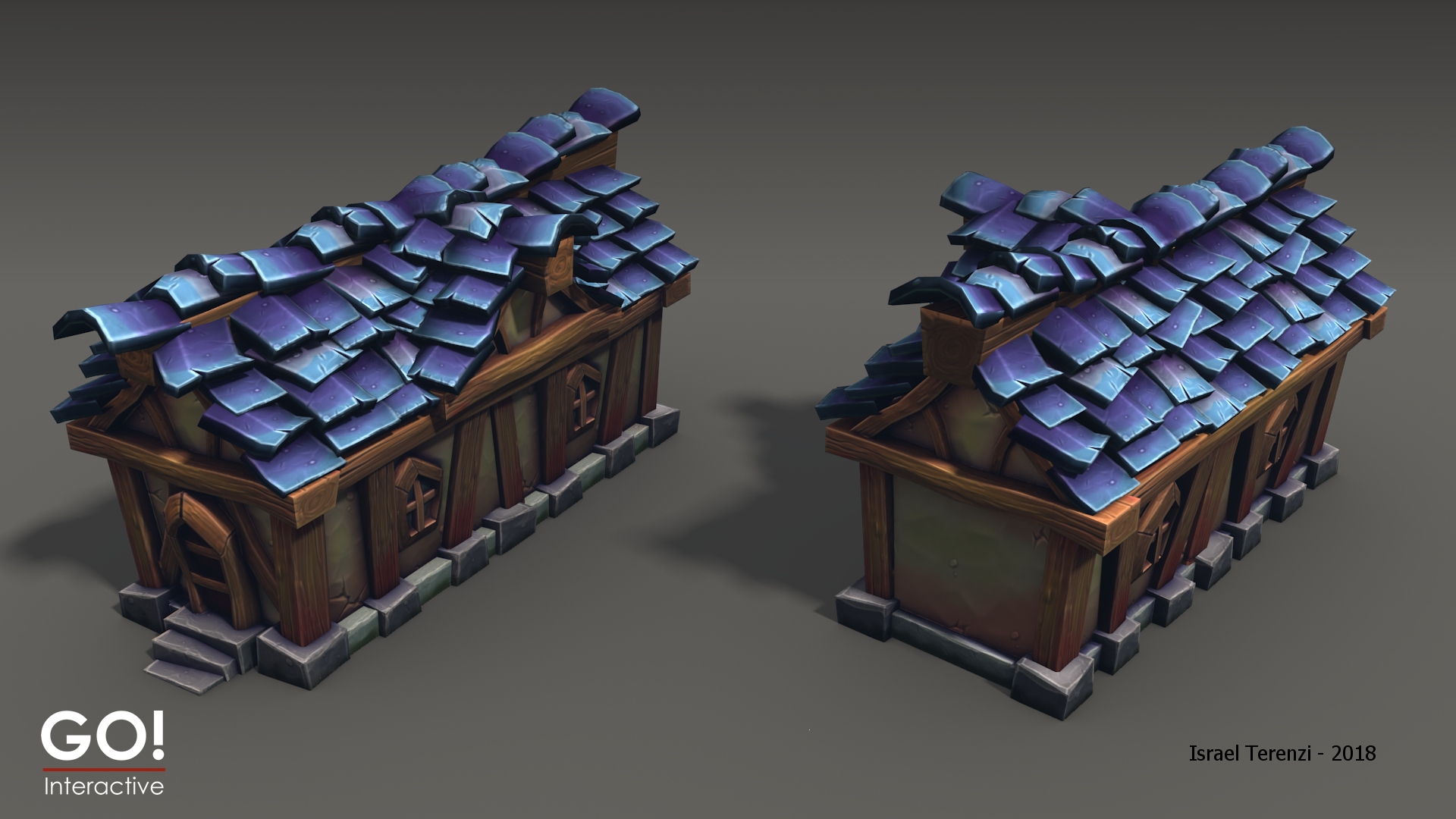 Stylized Hand Painted Buildings