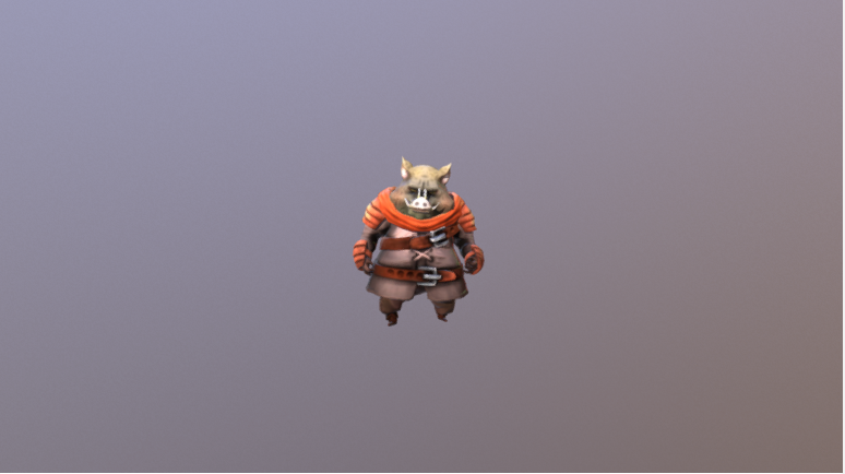3d Game Character for Unity. GameReady. LowPoly, handpainted, animated.