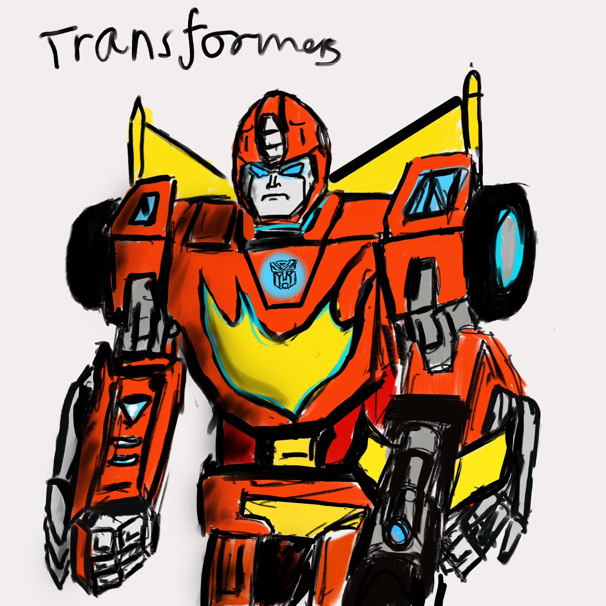 sketch Rodimus Prime
